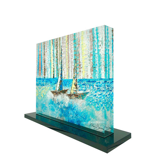 Printed Boats On Plexiglass by artist Eleni Sameli
