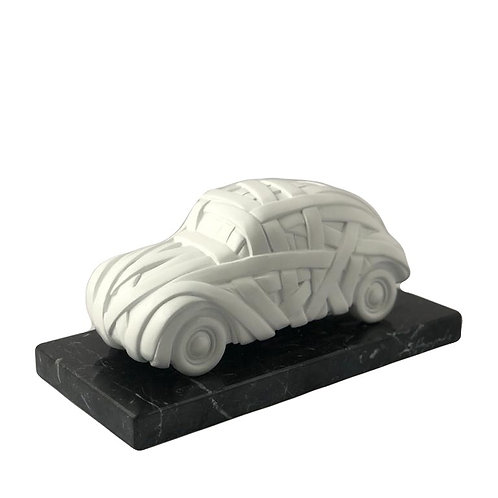 White Resin Sculpture Car Side View