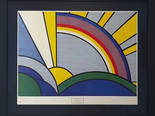 Offset Lithograph by Roy Lichtenstein titled Sun rays