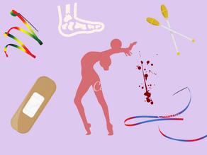 What happens when Rhythmic gymnasts get injured?