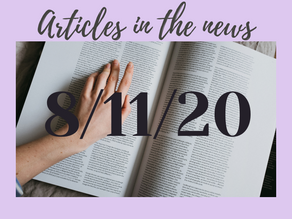 8/11/20 Articles in the news