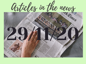 Articles in the News 29/11/20