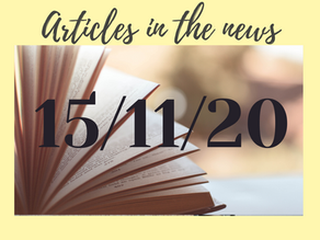 15/11/20 Articles In the News