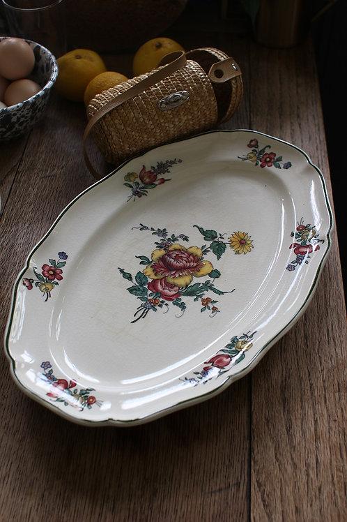 Villeroy&Boch オーバル花リム絵皿