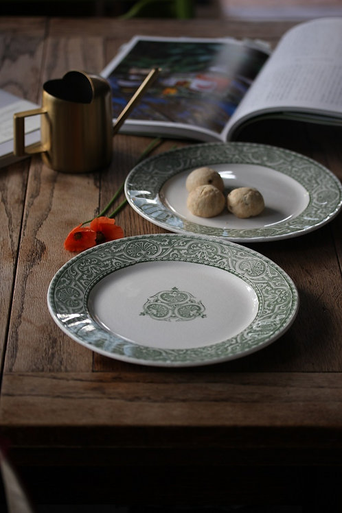 creil et montereau 'Henri II' デザート皿