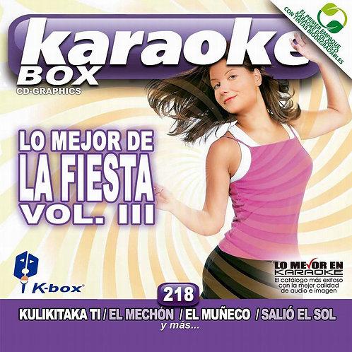 KBO-218 - Lo Mejor De La Fiesta Vol. III