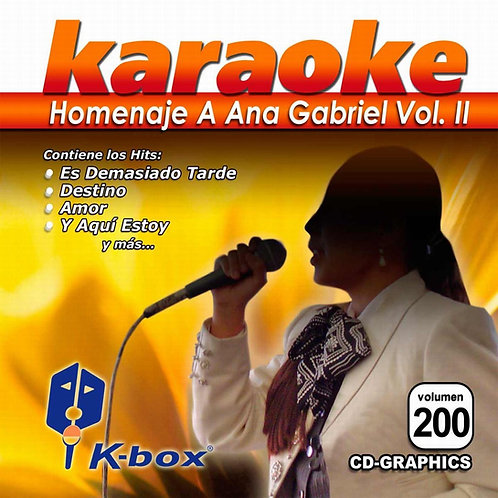 KBO-200 - Homenaje A Ana Gabriel Vol. II
