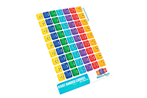 Easy Peel Chord Labels sheets - pack of 5