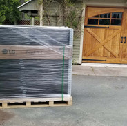 A pallet of panels