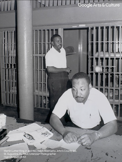 MLK & Rev. Ralph Abernathy @ John's County Jail, 1964 | High Museum of Art
