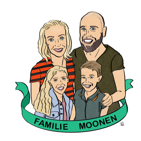 Portret gezin Moonen