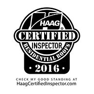 Haag Certified Inspector Logo for Residential Roofs that WB 4 Construction has earned the certification for.