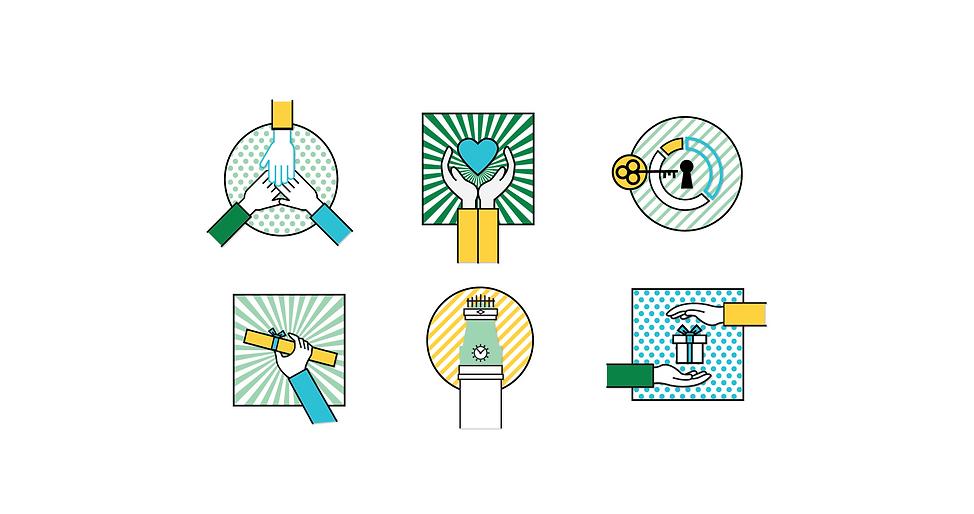 Brooke Hawkins Design | Graphics Design | Columbus, Indiana | Custom Stickers for Heritage Fund