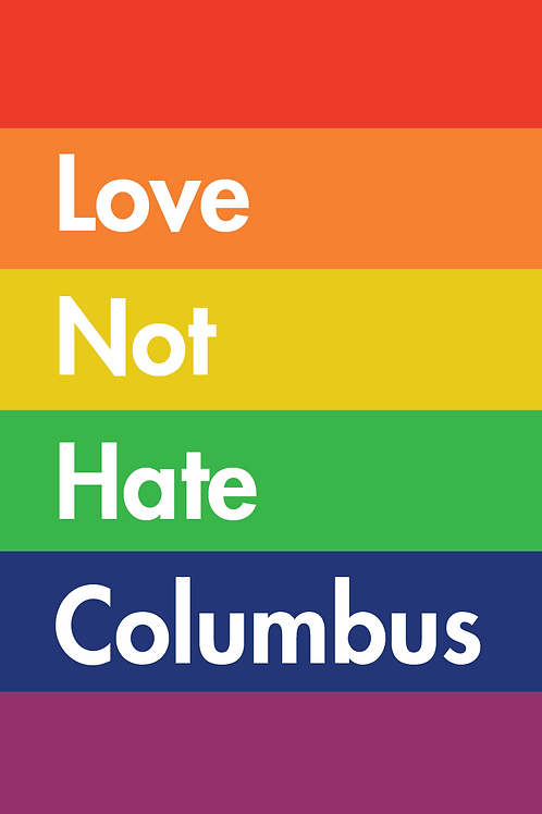 Poster - Love Not Hate Columbus