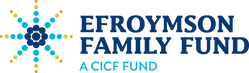 Efroymson Family Fund logo, a multicolored starburst shape with the name of the fund in blue at the right.
