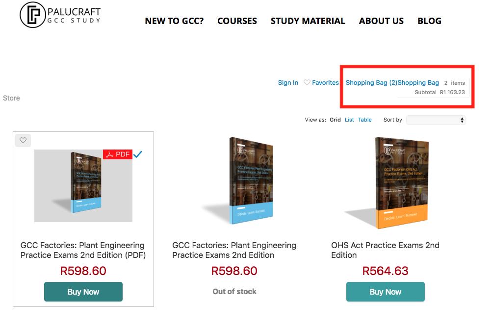 GCC Factorie Study Material   South Africa   Palucraft GCC Study