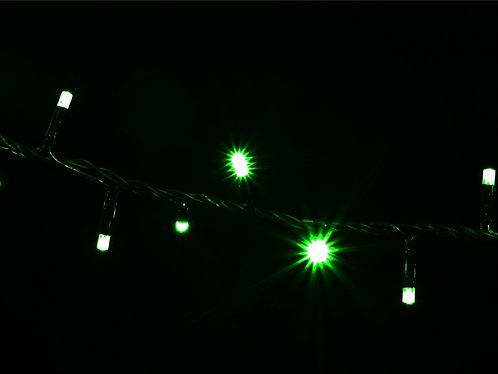 Гирлянда внешняя STRING зеленая провод черный