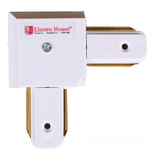 Коннектор для трекового LED светильника угловой белый