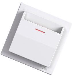 Ключ-карта для гостиницы, безвинтовые клеммы, белый ot Schneider Electric