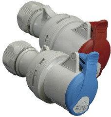 Розетка кабельная ES 3232, 2+PE, IP44, 32А