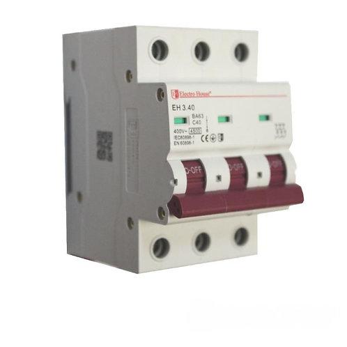 Автоматический выключатель 3P 40A 45kA 230-400V IP20