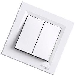 Asfora -1-полюсный 2-направленный выключатель, Schneider Electric, белый IP-20