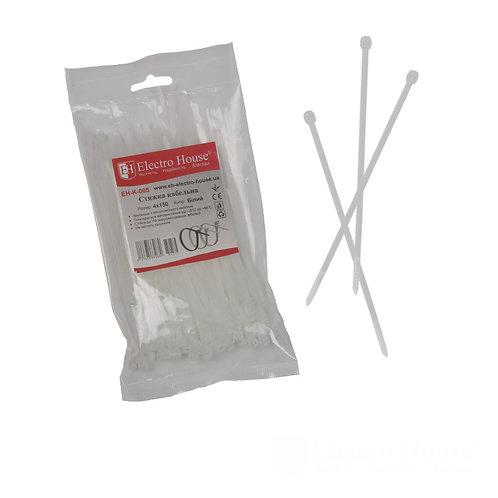 Стяжка кабельная белая 4x150