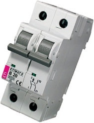 Модульный автоматический выключатель ETIMAT 6 1p+N B 20