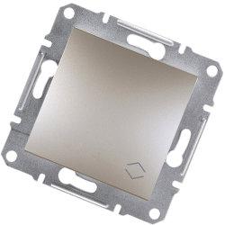 Asfora 1-полюсный переключатель -10А безвинтовой,  бронза Schneider Electric