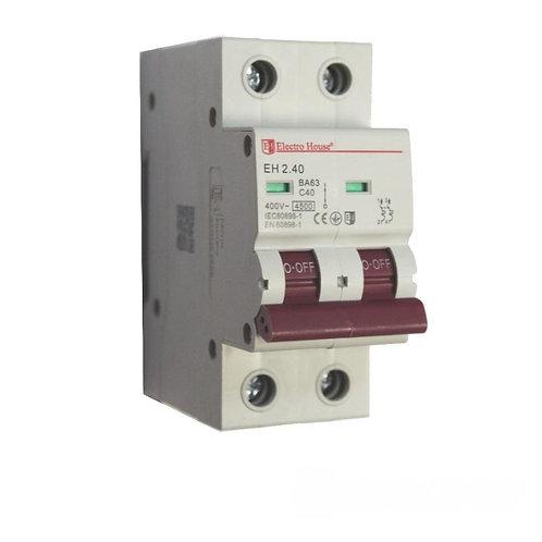 Автоматический выключатель 2P 40A 45kA 230-400V IP20