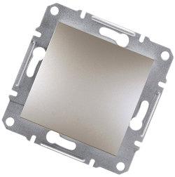 Asfora -1 полюсный выключатель, безвинтовые клеммы Schneider Electric, бронза
