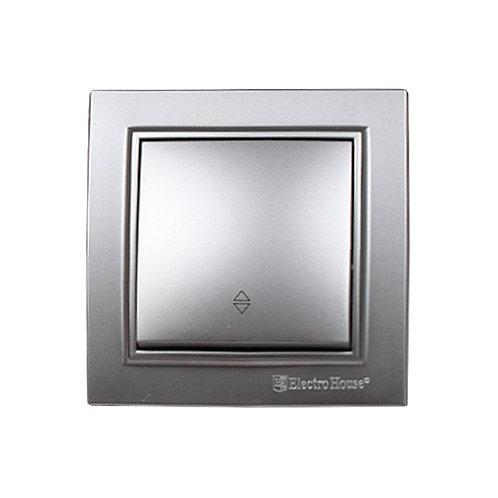 Выключатель проходной Среребряный камень Enzo IP22