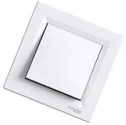 Asfora -1 полюсный выключатель, Schneider Electric, белый IP-44