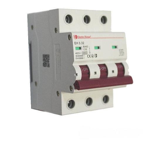 Автоматический выключатель 3P 32A 45kA 230-400V IP20