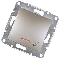 1-контактная кнопка с подсветкой клавиши от Schneider Electriс, бронза