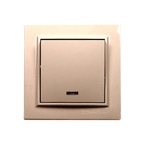 Выключатель с подсветкой латте Enzo  IP22