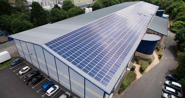 Солнечная электростанция на крыше предпр