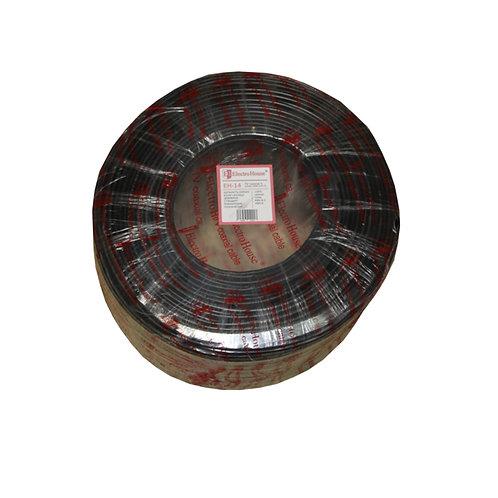 Телевизионный кабель с питанием RG-6U CCS 102 Cu гермет. фольга черный ПВХ