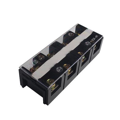Клеммная колодка в корпусе 60А 4 клемм. пары термопластик