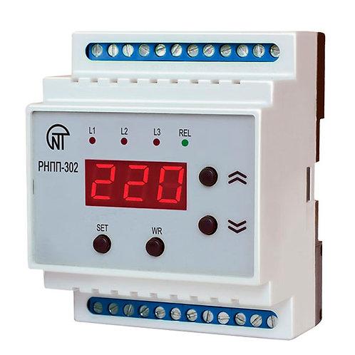 Трехфазное реле напряжения и контроля фаз РНПП-302. Технические характеристики