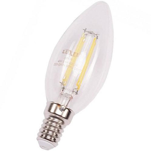 Филаментная светодиодная лампа Luxel 071-H C35 4W E14 2700K 440 lm 4 нити