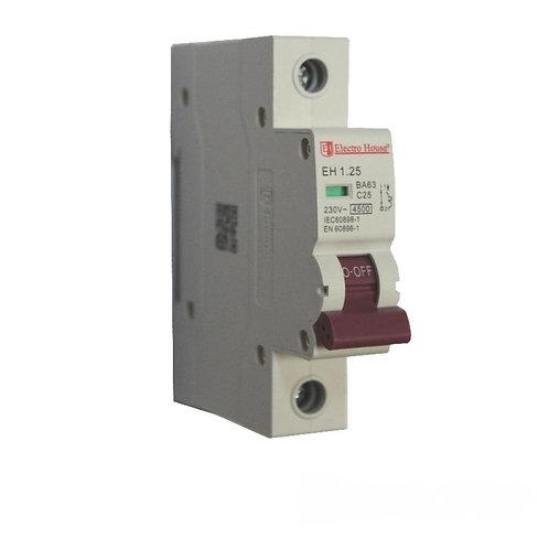 Автоматический выключатель 1P 25A 45kA 230-400V IP20
