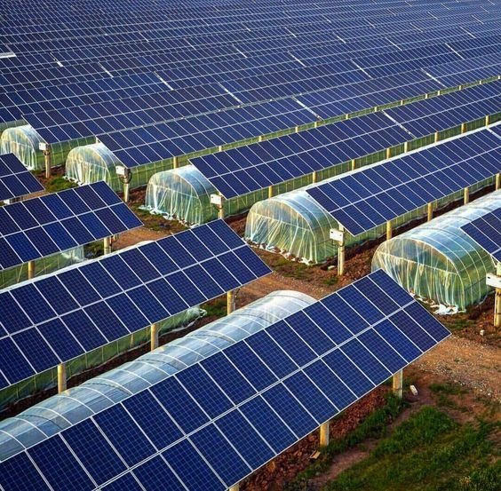 Солнечные панели на крыше теплицы