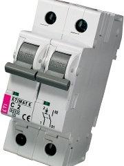 Модульный автоматический выключатель ETIMAT 6 1p+N С 2