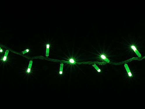 Гирлянда внешняя STRING зеленая провод белый