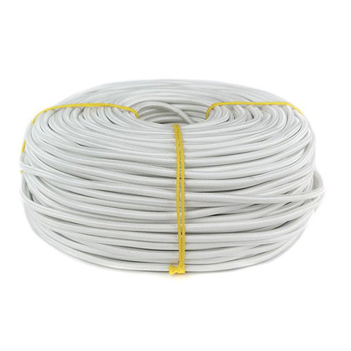Провод  в текстильной оплетке 2х0,5 белый