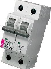 Модульный автоматический выключатель ETIMAT 6 1p+N С 1.6