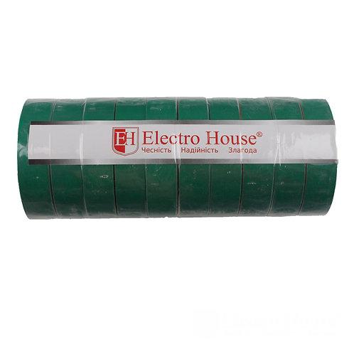 Изолента зеленая 015мм х 18мм х 21м
