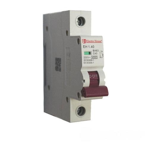 Автоматический выключатель 1P 40A 45kA 230-400V IP20