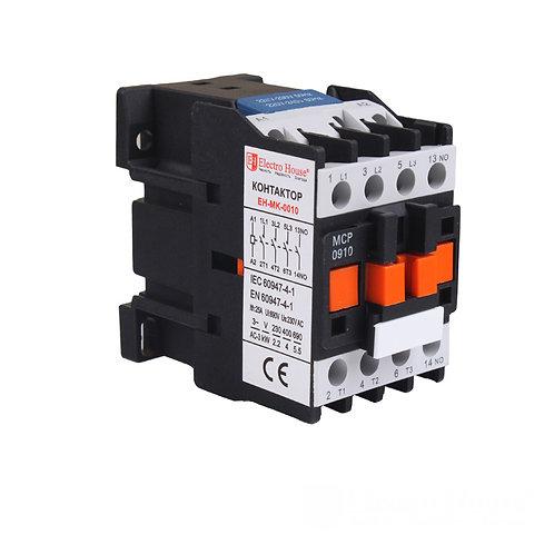 Контактор магнитный 3P 9A  220-230V IP20 4НО